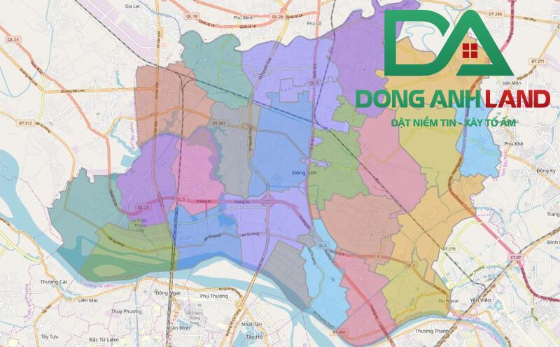 Bản đồ hành chính Huyện Đông Anh