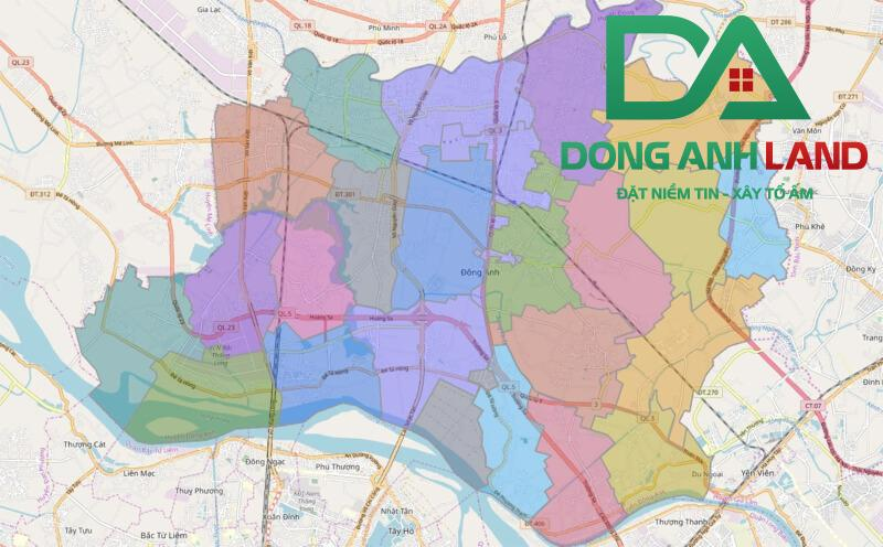 Ranh giới hành chính quy hoạch huyện Đông Anh
