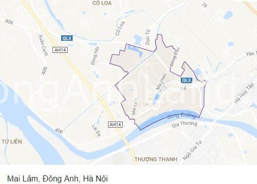 Mai Lâm nằm trên vị trí đắc địa của Đông Anh